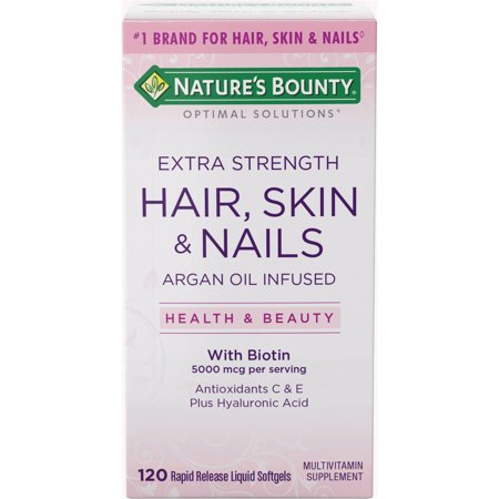 Nature S Bounty Extra Strength Hair Skin And Nails Walmart