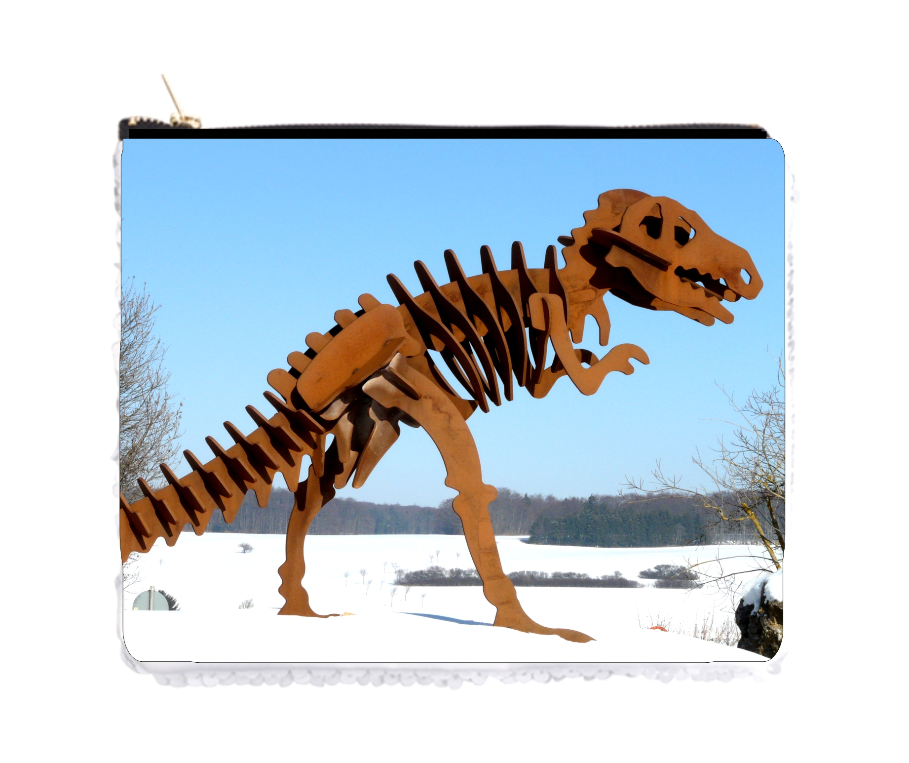 T-Rex Skeleton Pouch Made to Order