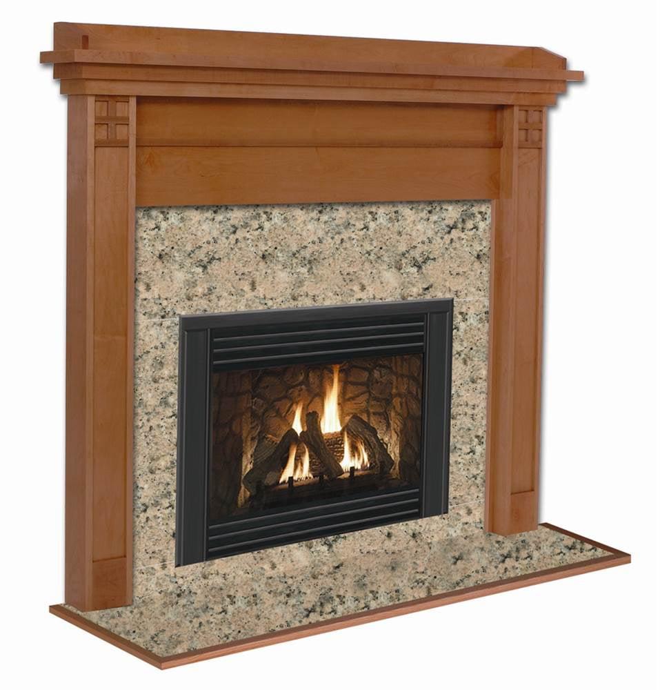 Royalton Rectangular Flush Mission Style Fireplace Mantel in Custom Cherry Finish (Custom Cherry 40 in. x 48 in.)