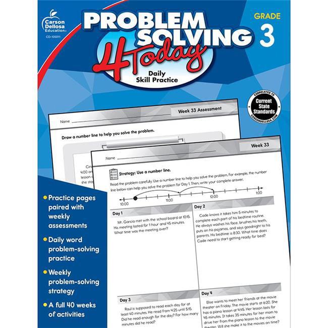 Carson Dellosa CD-105011 Problem Solving 4 Today Workbook - Grade 3 - image 1 of 1