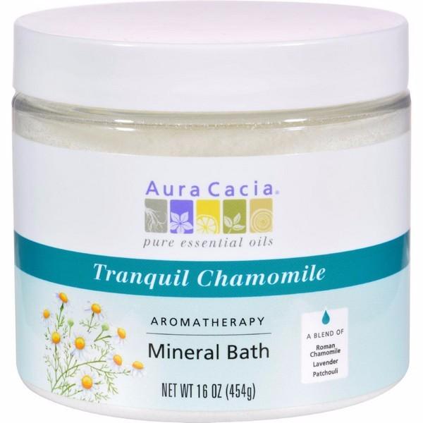 Aura Cacia Aromatherapy Mineral Bath Tranquility Chamomile - 16 Oz