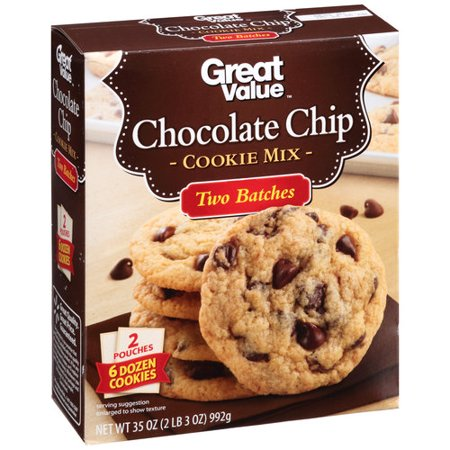 Great Value Chocolate Chip Cookie Mix, 35 oz - Walmart.com