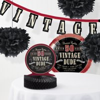Vintage Dude 50th Birthday Decorations Kit