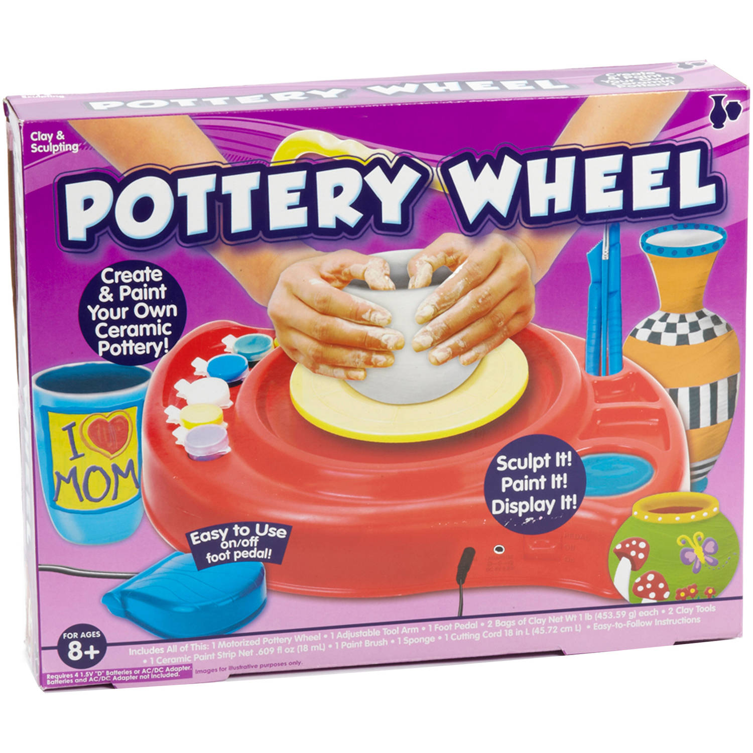 Electric Pottery Wheel & Clay Sculpting Kit by Horizon Group USA ...