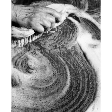 Female hand cleaning table Canvas Art -  (24 x 36) ()