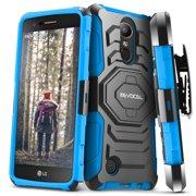 LG K20 Plus Case, Evocel [Belt Clip Holster] [Kickstand] [Dual Layer] Phone Case for LG K20 Plus / LG K7 2017 / LG V5, Blue