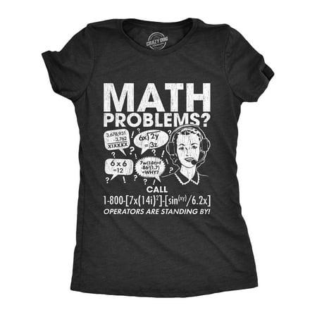 Womens Math Problems Hotline Tshirt Funny Student Teacher School Tee - Naughty School Teacher