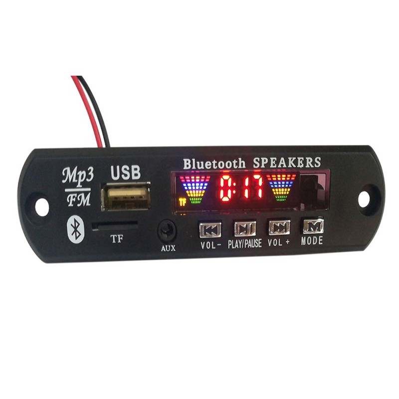 Car Wireless Bluetooth 12V MP3 WMA Decoder Board Audio Module USB Radio