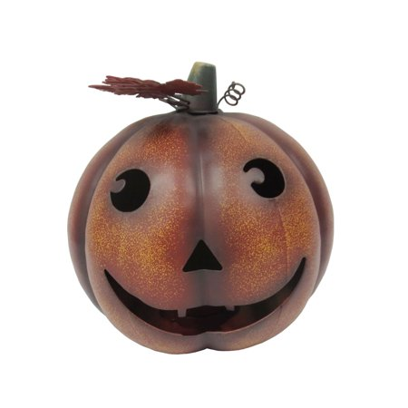 Metal Jack O Lantern Pumpkin tabletop tea-light candle holder