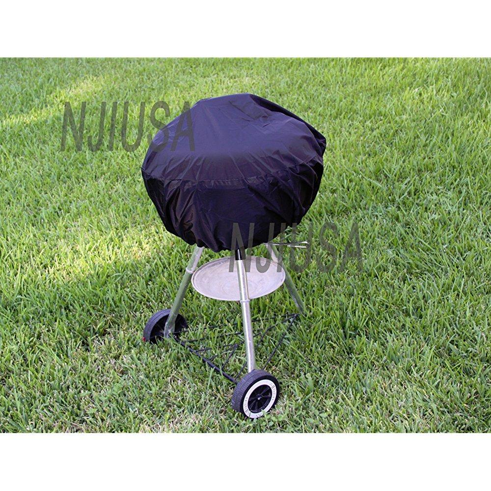 Round Charcoal Kettle BBQ Grill 26 - 31 Diameter EZ Use Cover w/ Drawstring:New by WW shop