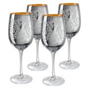Artland Inc. Silver Brocade Wine Glasses- Set of 4 by Artland