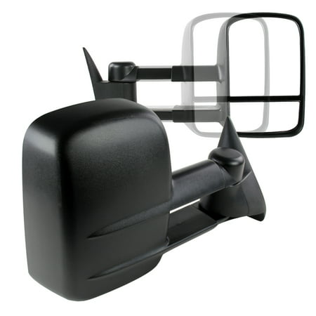 Spec-D Tuning For 1988-1998 Chevy Chevrolet C/K 1500/2500/3500 Manual Towing Tow Hauling Side Mirrors (Left+Right) 1988 1989 1990 1991 1992 1993 1994 1995 1996 1997 - Chevy Chevrolet Blazer Mirror