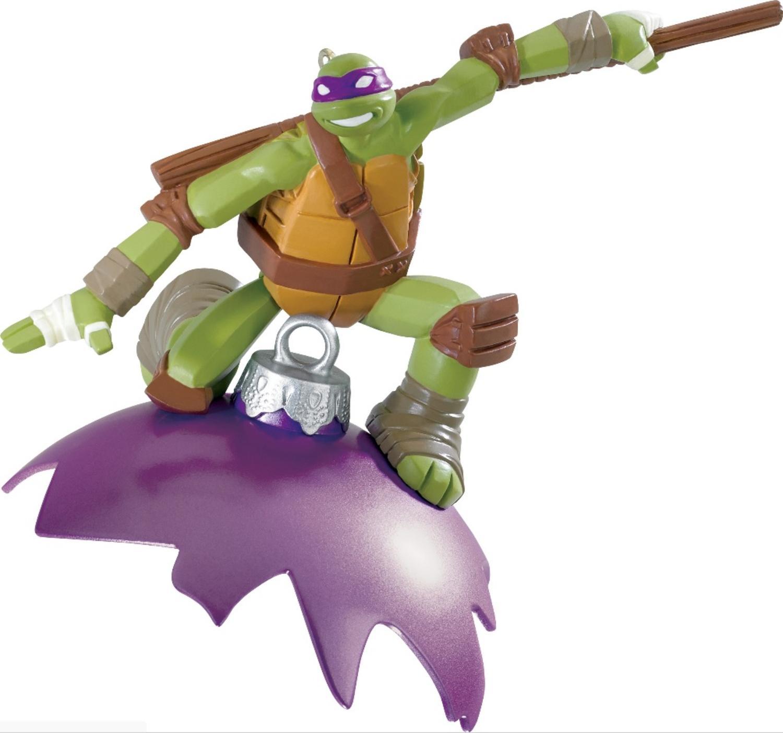 """3.75"""" Carlton Cards Heirloom Teenage Mutant Ninja Turtles Donatello Christmas Ornament"""