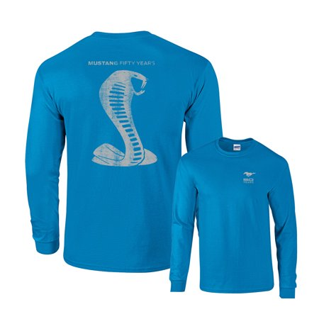 Cobra Graphic (Ford Mustang 50 Years Cobra Long Sleeve T-Shirt )