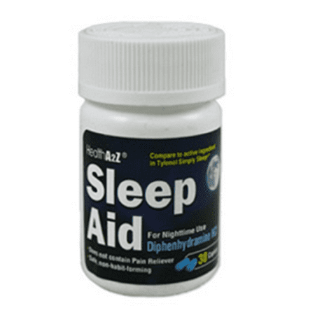 Sleep Aid For Nighttime Use Diphenhydramine HCL 30 Caplets Pack of