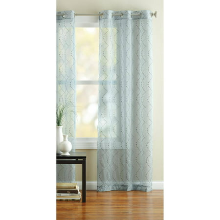 Better Homes And Gardens Ogee Stitched Dot Curtain Panel