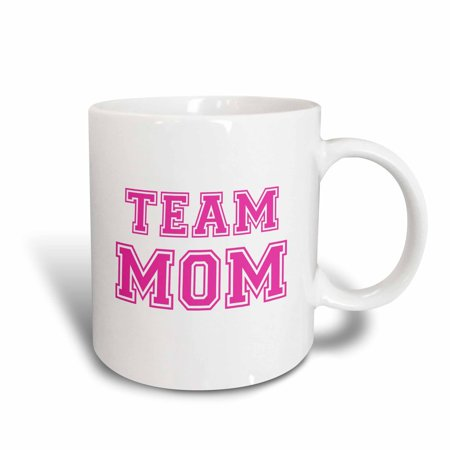 3dRose Team Mom - hot pink girly retro sporty or college sports font - gifts for moms good for mothers day, Ceramic Mug, 11-ounce - Hot Mom Gif