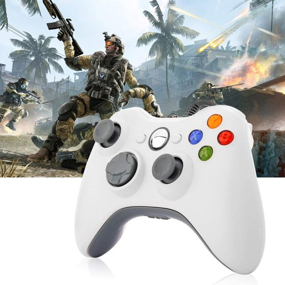 LESHP Game Controller Gamepad USB Wired Shoulders Buttons Improved Ergonomic Design Joypad Gamepad Controller For Microsoft Xbox & Slim 360 PC Windows 7