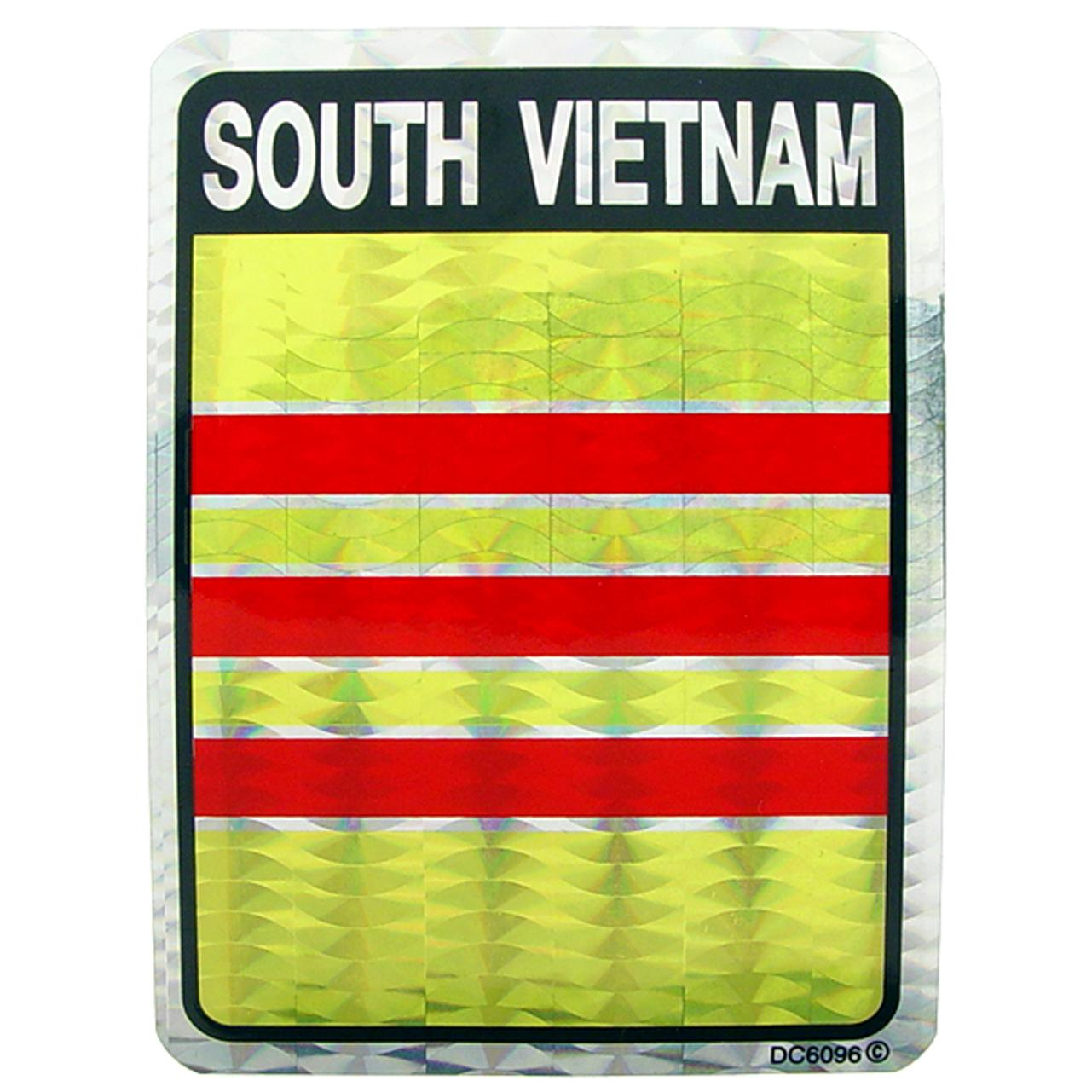 "South Vietnam Flag Sticker 3""X4"""