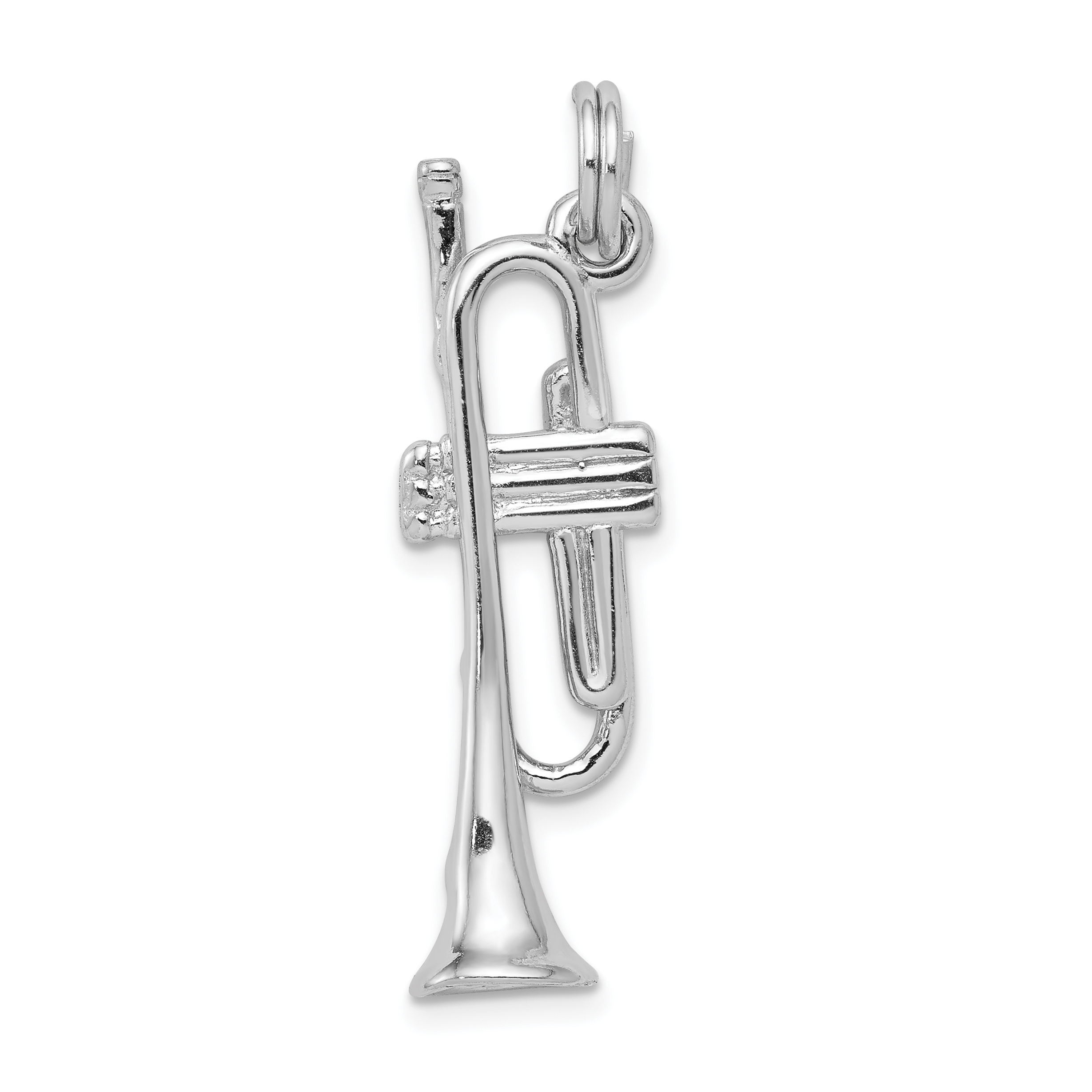 STERLING SILVER 925 TRUMPET CHARM//PENDANT
