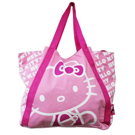 Bags Hello Kitty (Hello Kitty Light Pink Colored Medium Size Canvas Tote)