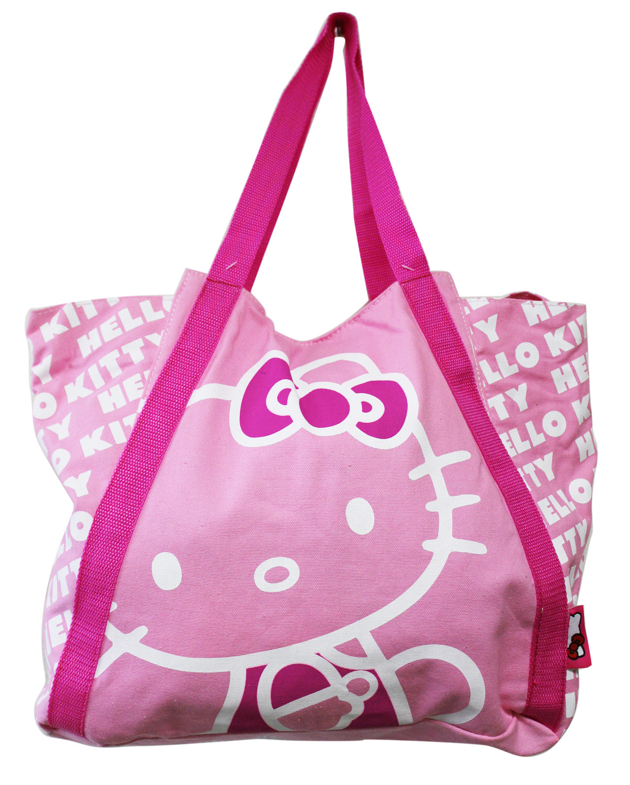 Hello Kitty Light Pink Colored Medium Size Canvas Tote Bag