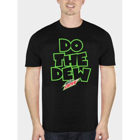 Mountain Dew Do The Dew Men's Black Graphic T-Shirt, up to Size 5XL (Mountain Dew Costume)