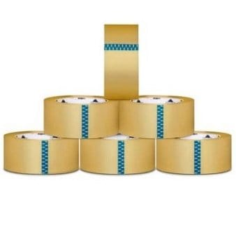Packagingsuppliesbymail (72) 2-inch x 110 Yards Clear Packing Box Shipping Tapes 2.5 Mil