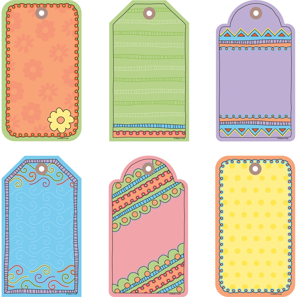 Barker Creek Accents - Tag You're It  Set of 36