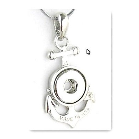 Pendant Anchor for  charms Interchangable Jewelry snap button charm 12mm fit](Jewelry Snaps)