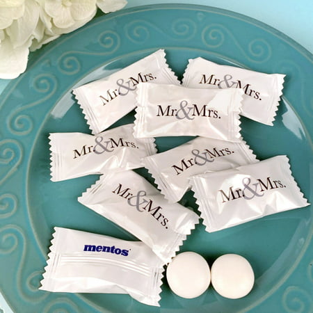 Wedding Mints Wedding Favors for Guests (Approx 75 Count) - Individually Wrapped Mentos Mints 1/2