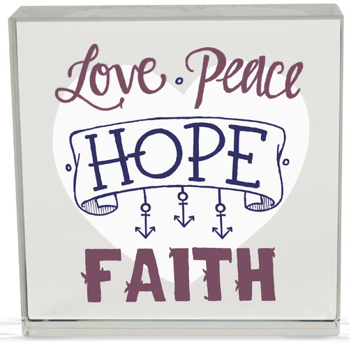Angelstar Love/Peace Rachel Anne Textual Art Plaque (Set of 2)