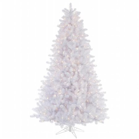 Vickerman 8.5' Crystal White Pine Artificial Christmas Tree with 900 Clear Lights
