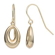 Fremada  10k Yellow Gold Oval Drop Earrings