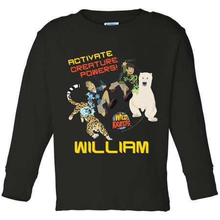 Personalized Wild Kratts Activate Creature Youth Boy Black Long Sleeve Tee