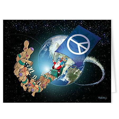 Peace on Earth Christmas Card - 18 Boxed Peace Theme Christmas - Peace Christmas Boxed Card