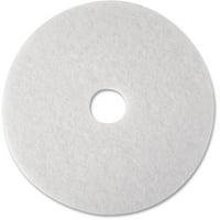 3M, MMM08476, Polyester Fiber Super Polish Pads, 5 / Carton, White