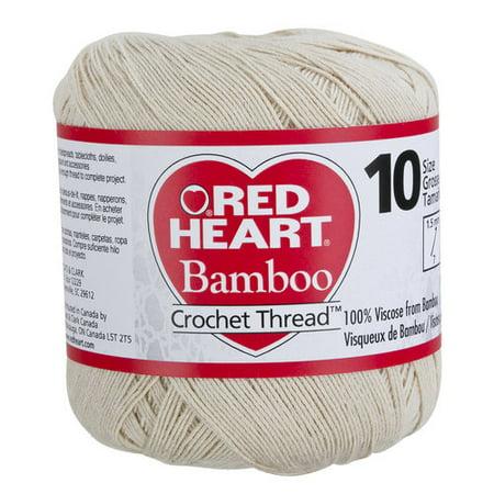 Red Heart Bamboo Crochet Thread Size 10 Natural Yarn Walmartcom