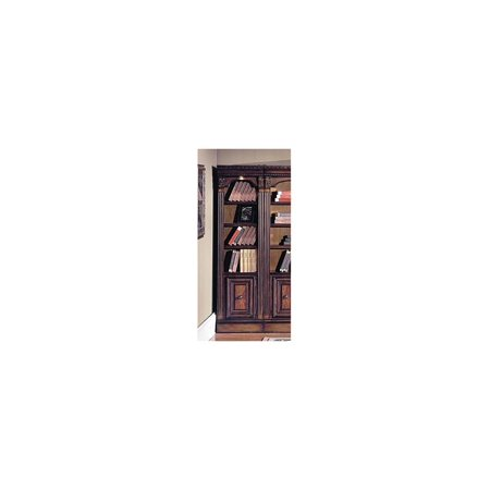 21 Inch Open Top Bookcase W Chestnut Finish Huntington 21 In Wide