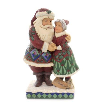 Jim Shore CUTEST CHRISTMAS COUPLE Polyresin Santa & Mrs. Claus 6001465 ()