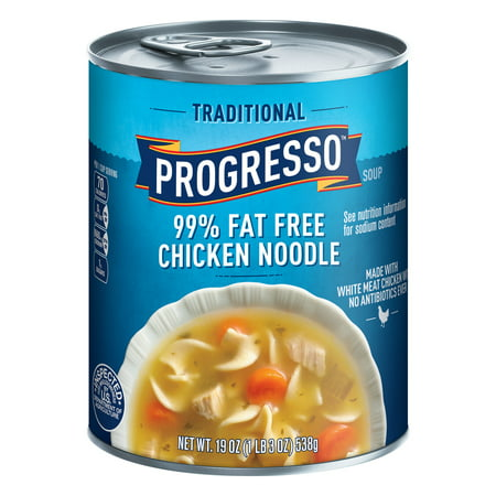 Fat Free Soup - (8 Pack) Progresso Soup Traditional 99% Fat Free Chicken Noodle Soup 19 oz Can