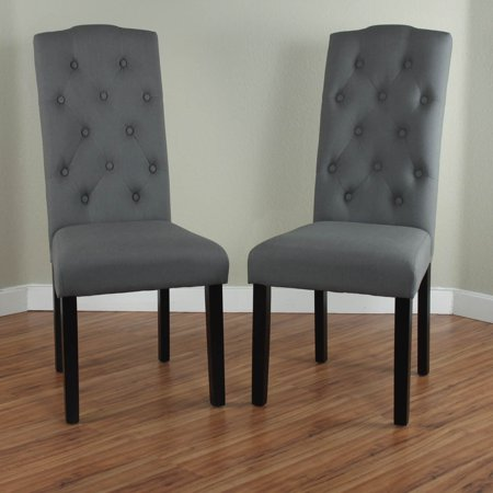 Monsoon princeton upholstered linen dining chairs set of for Upholstered linen dining chairs