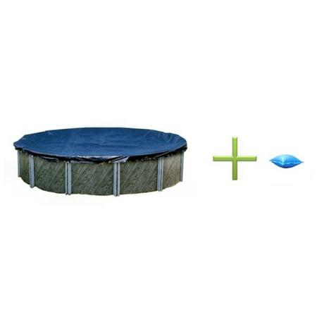 - Swimline 18' Round Winter Swimming Pool Cover + 4'x4' Winterizing Air Pillow