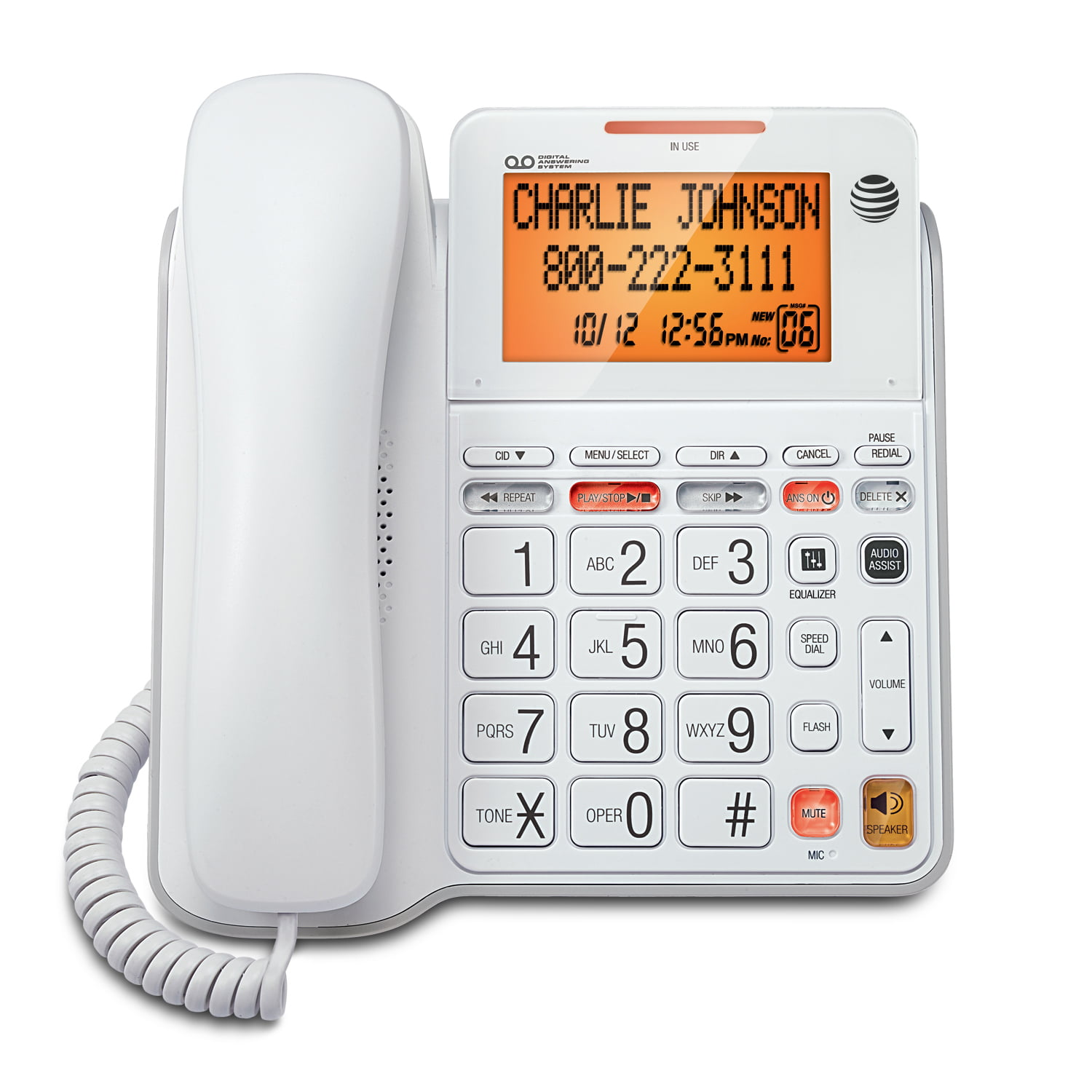 Lot of 2 AT/&T Corded Caller ID Desk /& Wall Mount Telephone White