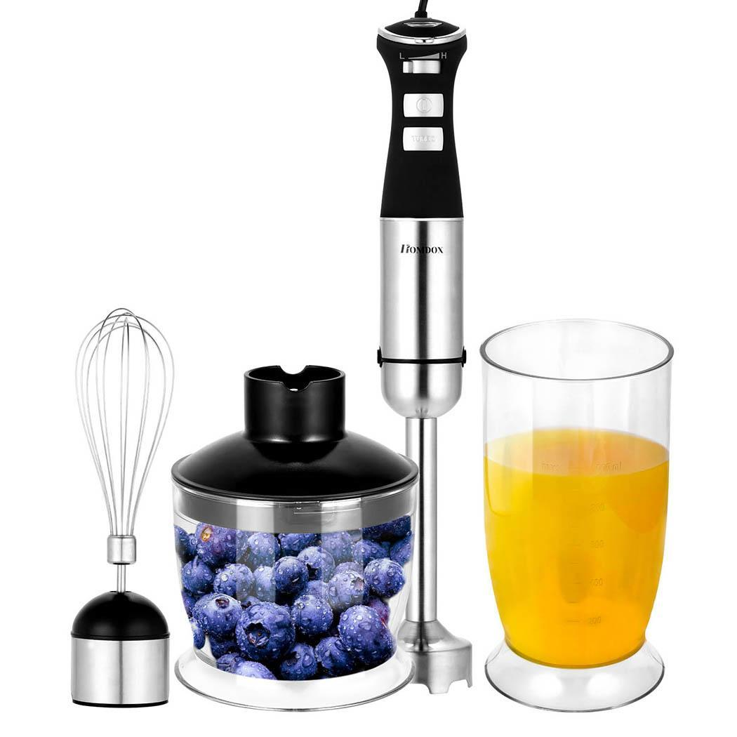 5-speed 800W Hand Blender Electric Chopper Handheld Hand Mixer Stick Blender Mixing Jug Cup Food Maker 4 In... by Unbranded