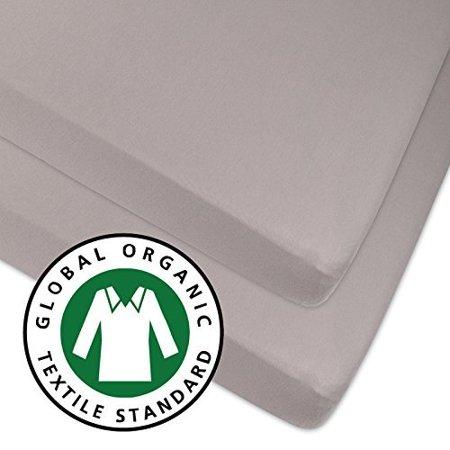 organic pack n play sheet portable mini crib sheet 2 pack 100