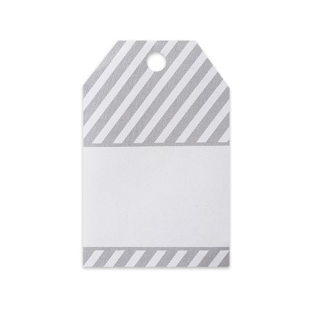 Gray Stripes Gift Wrap / Gift Bag  Tags -25pack