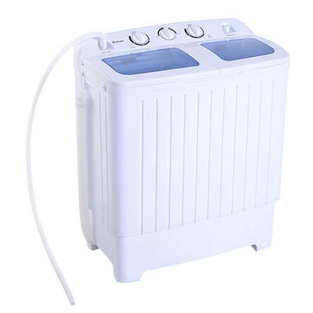Costway Portable Mini Compact Twin Tub 17 6Lb Washing Machine Washer Spin Dryer