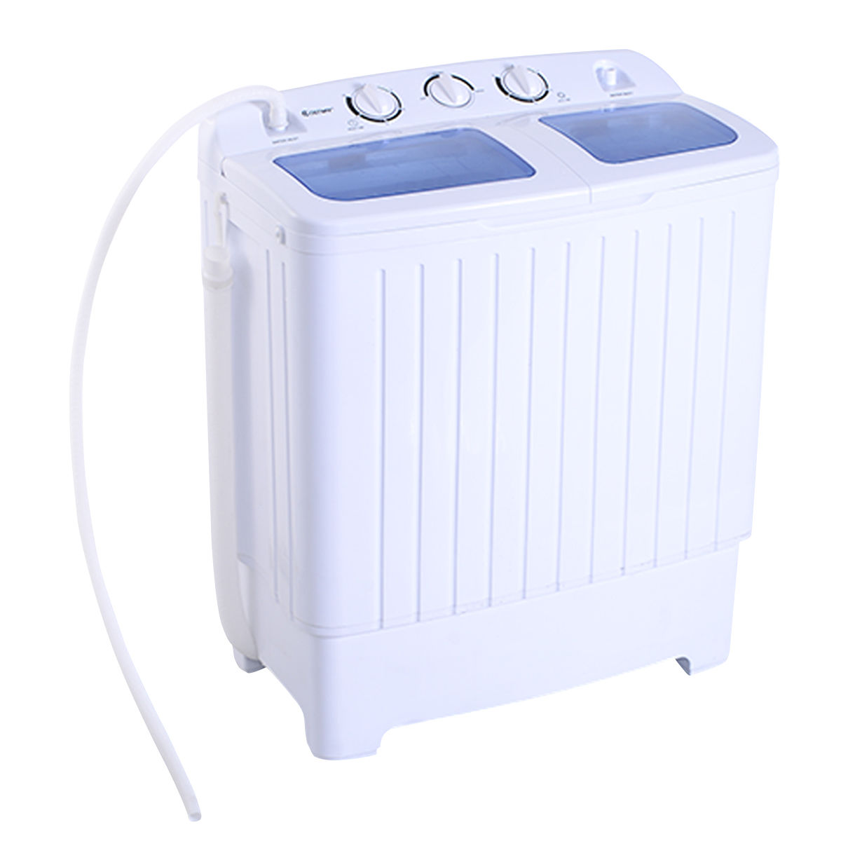 costway portable mini compact twin tub 176lb washing machine washer spin dryer