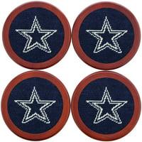 Dallas Cowboys Needlepoint Coaster Set - No Size